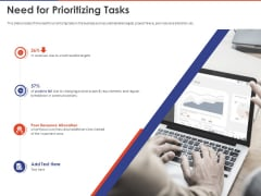 Key Prioritization Techniques For Project Team Management Need For Prioritizing Tasks Ppt PowerPoint Presentation Ideas Introduction PDF