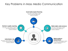 Key Problems In Mass Media Communication Ppt PowerPoint Presentation Gallery Themes PDF