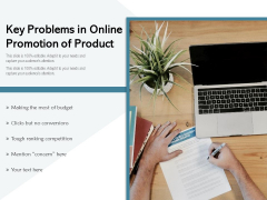 Key Problems In Online Promotion Of Product Ppt PowerPoint Presentation Icon Pictures PDF