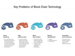 Key Problems Of Block Chain Technology Ppt PowerPoint Presentation Gallery Themes PDF