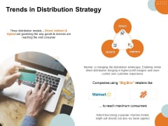 Key Product Distribution Channels Trends In Distribution Strategy Ppt Templates PDF