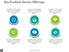 Key Products Service Offerings Template 2 Ppt PowerPoint Presentation Background Image