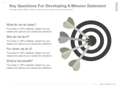 Key Questions For Developing A Mission Statement Ppt PowerPoint Presentation Layouts