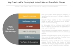 Key Questions For Developing A Vision Statement Powerpoint Shapes