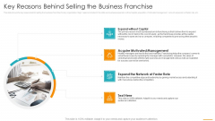 Key Reasons Behind Selling The Business Franchise Ppt Layouts Templates PDF