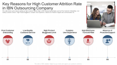 Key Reasons For High Customer Attrition Rate In Ibn Outsourcing Company Ppt Gallery Outline PDF