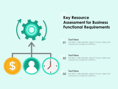 Key Resource Assessment For Business Functional Requirements Ppt PowerPoint Presentation Icon Deck PDF