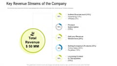 Key Revenue Streams Of The Company Ppt Portfolio Aids PDF