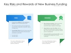 Key Risks And Rewards Of New Business Funding Ppt PowerPoint Presentation Show Slides PDF