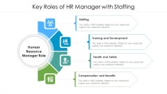 Key Roles Of HR Manager With Staffing Ppt PowerPoint Presentation Icon Layouts PDF