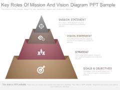 Key Roles Of Mission And Vision Diagram Ppt Sample