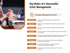 Key Rules Of A Successful Crisis Management Ppt PowerPoint Presentation Show Icon PDF