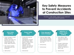 Key Safety Measures To Prevent Accidents At Construction Sites Ppt PowerPoint Presentation Summary Themes PDF