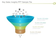 Key Sales Insights Ppt Sample File