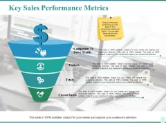 Key Sales Performance Metrics Ppt PowerPoint Presentation Infographics Show