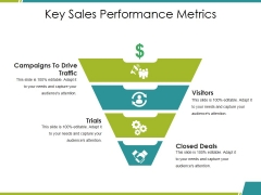 Key Sales Performance Metrics Ppt PowerPoint Presentation Layouts Graphics Template