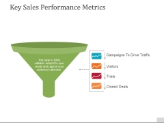Key Sales Performance Metrics Ppt PowerPoint Presentation Slides Designs
