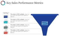 Key Sales Performance Metrics Ppt PowerPoint Presentation Styles Influencers