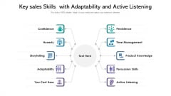 Key Sales Skills With Adaptability And Active Listening Structure PDF