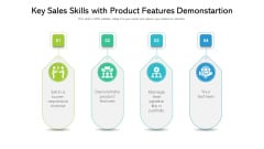 Key Sales Skills With Product Features Demonstartion Topics PDF