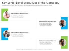 Key Senior Level Executives Of The Company Ppt Portfolio Model PDF