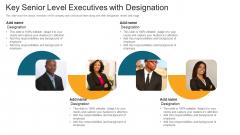 Key Senior Level Executives With Designation Ppt File Samples PDF