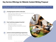 Key Service Offerings For Website Content Writing Proposal Ppt Infographics Show PDF
