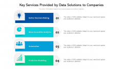 Key Services Provided By Data Solutions To Companies Ppt PowerPoint Presentation File Summary PDF