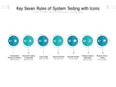 Key Seven Rules Of System Testing With Icons Ppt PowerPoint Presentation Portfolio Styles PDF Ppt PowerPoint Presentation File Layouts PDF