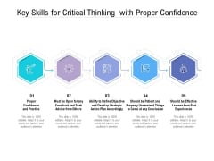 Key Skills For Critical Thinking With Proper Confidence Ppt PowerPoint Presentation Layouts Inspiration