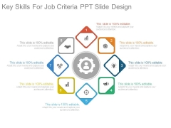 Key Skills For Job Criteria Ppt Slide Design