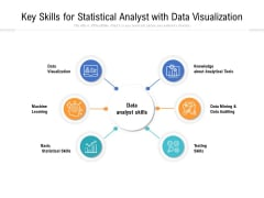 Key Skills For Statistical Analyst With Data Visualization Ppt PowerPoint Presentation Gallery Elements PDF