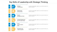 Key Skills Of Leadership With Strategic Thinking Ppt PowerPoint Presentation Styles Rules PDF