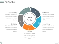 Key Skills Template 1 Ppt PowerPoint Presentation Summary Visuals