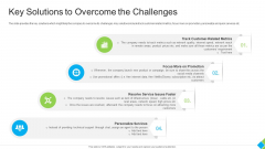Key Solutions To Overcome The Challenges Designs PDF