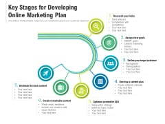 Key Stages For Developing Online Marketing Plan Ppt PowerPoint Presentation File Deck PDF