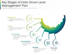 Key Stages Of Data Driven Lead Management Plan Ppt PowerPoint Presentation Show Ideas PDF