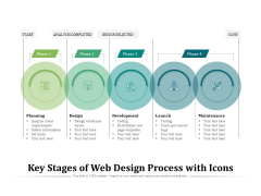 Key Stages Of Web Design Process With Icons Ppt PowerPoint Presentation Icon Outline PDF