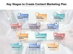 Key Stages To Create Content Marketing Plan Ppt PowerPoint Presentation File Layouts PDF