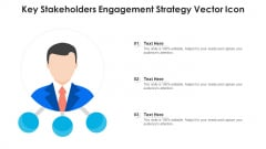 Key Stakeholders Engagement Strategy Vector Icon Ppt Inspiration Clipart Images PDF