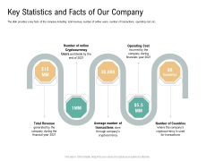 Key Statistics And Facts Of Our Company Virtual Currency Financing Pitch Deck Introduction PDF