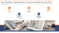 Key Statistics Associated To Consumer Electronics Firm Ppt Show Professional PDF