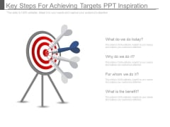 Key Steps For Achieving Targets Ppt Inspiration