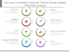 Key Steps For Building Investment Portfolio Sample Diagram Powerpoint Graphics