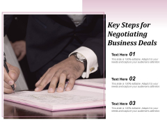 Key Steps For Negotiating Business Deals Ppt Powerpoint Presentation Professional Diagrams
