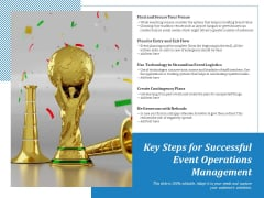 Key Steps For Successful Event Operations Management Ppt PowerPoint Presentation Infographic Template Slides PDF