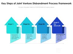 Key Steps Of Joint Venture Disbandment Process Framework Ppt PowerPoint Presentation Professional Aids PDF