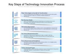 Key Steps Of Technology Innovation Process Ppt PowerPoint Presentation Ideas Mockup PDF