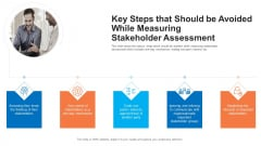 Key Steps That Should Be Avoided While Measuring Stakeholder Assessment Infographics PDF