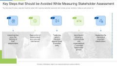 Key Steps That Should Be Avoided While Measuring Stakeholder Assessment Microsoft PDF